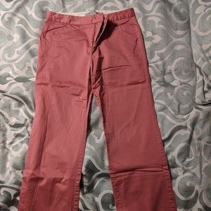 Pink ankle dress pants